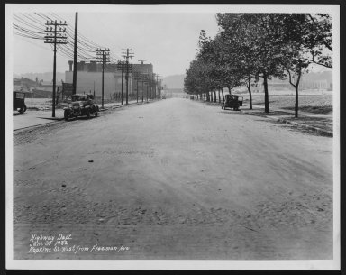 Street Improvement Photographs -- Box 24, Folder 47 (Hopkins Street) -- print, 1932-06-30