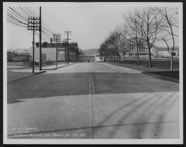 Street Improvement Photographs -- Box 24, Folder 47 (Hopkins Street) -- print, 1933-01-07