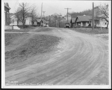 Street Improvement Photographs -- Box 24, Folder 49 (Howard Avenue) -- print, 1929-03-26