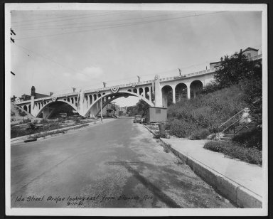 Street Improvement Photographs -- Box 24, Folder 52 (Ida Street Bridge) -- print, 1931-09-11