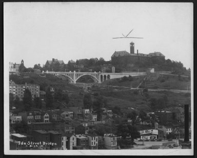Street Improvement Photographs -- Box 24, Folder 52 (Ida Street Bridge) -- print, 1931-08-14