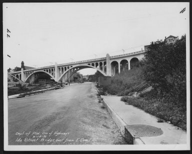 Street Improvement Photographs -- Box 24, Folder 52 (Ida Street Bridge) -- print, 1931-09-14
