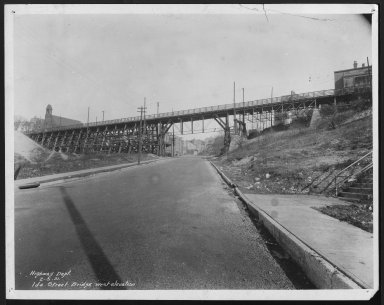 Street Improvement Photographs -- Box 24, Folder 53 (Ida Street Bridge) -- print, 1931-02-05