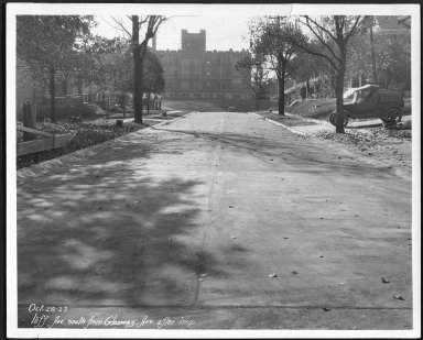 Street Improvement Photographs -- Box 24, Folder 54 (Iliff Avenue) -- print, 1927-10-28