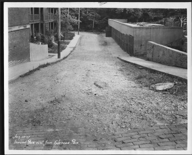 Street Improvement Photographs -- Box 24, Folder 56 (Inwood Place) -- print, 1927-08-10