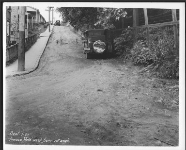 Street Improvement Photographs -- Box 24, Folder 56 (Inwood Place) -- print, 1927-09-01