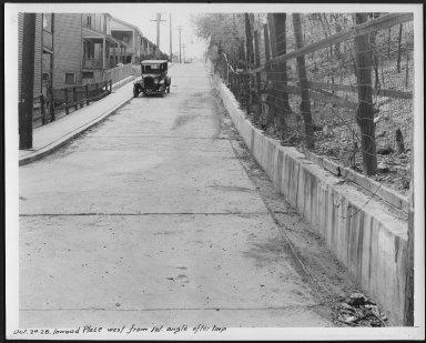 Street Improvement Photographs -- Box 24, Folder 56 (Inwood Place) -- print, 1928-10-24