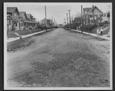 Street Improvement Photographs -- Box 24, Folder 61 (Islington Avenue) -- print, 1930-03-15