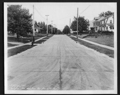Street Improvement Photographs -- Box 24, Folder 61 (Islington Avenue) -- print, 1930-09-12