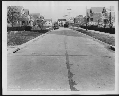Street Improvement Photographs -- Box 24, Folder 62 (Jamestown Avenue) -- print, 1929-01-04