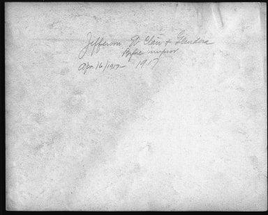 Street Improvement Photographs -- Box 24, Folder 65 (Jefferson Street) -- print, 1917-04-16 (back of photograph)