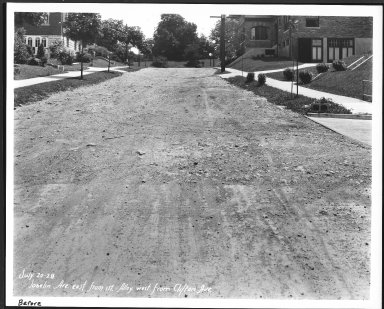 Street Improvement Photographs -- Box 24, Folder 68 (Joselin Street) -- print, 1928-07-20