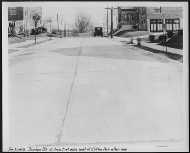Street Improvement Photographs -- Box 24, Folder 68 (Joselin Street) -- print, 1929-01-21