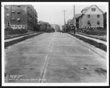 Street Improvement Photographs -- Box 24, Folder 68 (Joselin Street) -- print, 1931-08-20