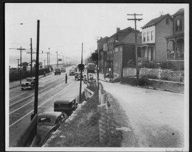 Street Improvement Photographs -- Box 25, Folder 11 (Kemper Lane) -- print, 1936