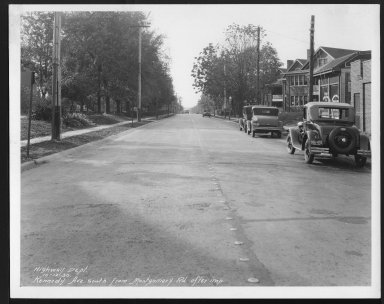 Street Improvement Photographs -- Box 25, Folder 12 (Kennedy Avenue) -- print, 1930-10-12