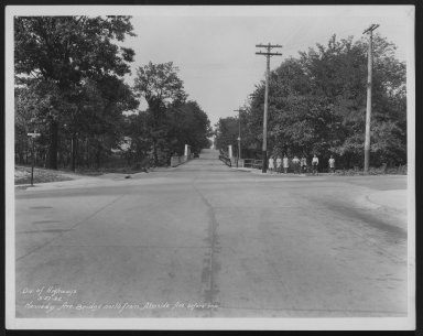 Street Improvement Photographs -- Box 25, Folder 14 (Kennedy Ave Bridge) -- print, 1932-05-27
