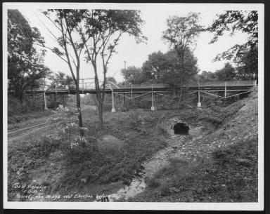 Street Improvement Photographs -- Box 25, Folder 14 (Kennedy Ave Bridge) -- print, 1932-05-27