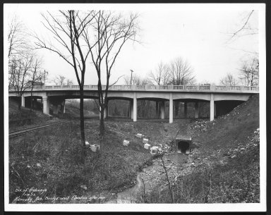 Street Improvement Photographs -- Box 25, Folder 14 (Kennedy Ave Bridge) -- print, 1933-01-05