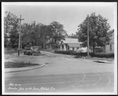 Street Improvement Photographs -- Box 25, Folder 16 (Kessler Avenue) -- print, 1927-05-24