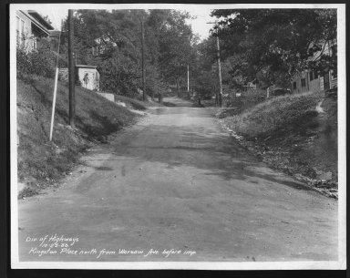 Street Improvement Photographs -- Box 25, Folder 19 (Kingston Place) -- print, 1933-10-23