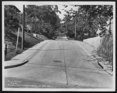 Street Improvement Photographs -- Box 25, Folder 19 (Kingston Place) -- print, 1934-08-09