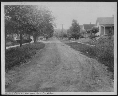 Street Improvement Photographs -- Box 25, Folder 20 (Kirkup Avenue) -- print, 1928-10-08