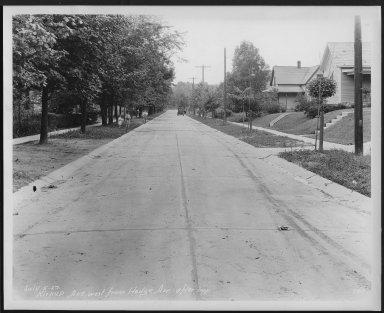 Street Improvement Photographs -- Box 25, Folder 20 (Kirkup Avenue) -- print, 1929-07-05