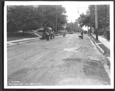 Street Improvement Photographs -- Box 25, Folder 22 (Kleinview Avenue) -- print, 1936-06-25