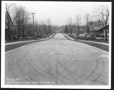 Street Improvement Photographs -- Box 25, Folder 26 (Koeing Avenue) -- print, 1931-02-16