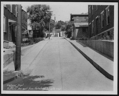 Street Improvement Photographs -- Box 25, Folder 27 (Kottman Street) -- print, 1930-07-23