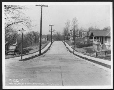Street Improvement Photographs -- Box 25, Folder 28 (Kremer Avenue) -- print, 1932-04-05