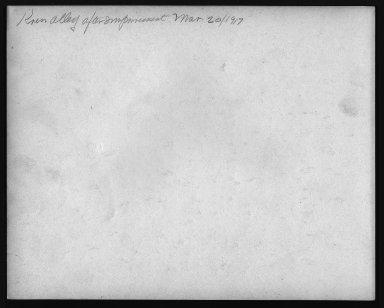 Street Improvement Photographs -- Box 25, Folder 30 (Kress Alley) -- print, 1917-03-20 (back of photograph)