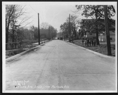 Street Improvement Photographs -- Box 25, Folder 41 (Lantana Avenue) -- print, 1929-10-26