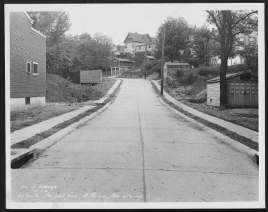 Street Improvement Photographs -- Box 25, Folder 43 (La Salle Street) -- print, 1931-10-07