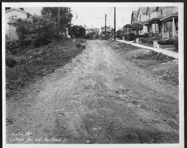 Street Improvement Photographs -- Box 25, Folder 44 (Latham Avenue) -- print, 1928-06-06