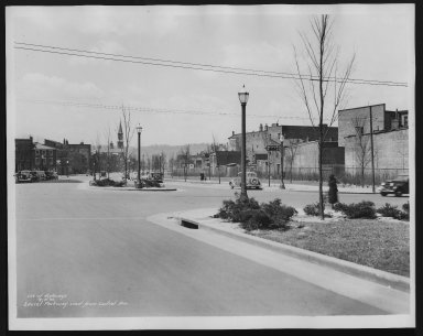 Street Improvement Photographs -- Box 25, Folder 46 (Laurel Parkway) -- print, 1934-04-16