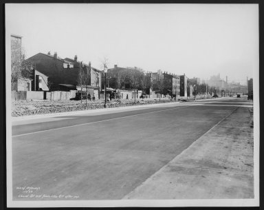 Street Improvement Photographs -- Box 25, Folder 48 (Laurel Street) -- print, 1934-11-07