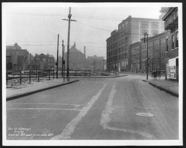 Street Improvement Photographs -- Box 25, Folder 49 (Laurel Street) -- print, 1933-11-17