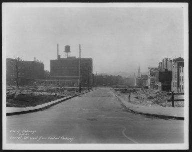 Street Improvement Photographs -- Box 25, Folder 49 (Laurel Street) -- print, 1933-11-04