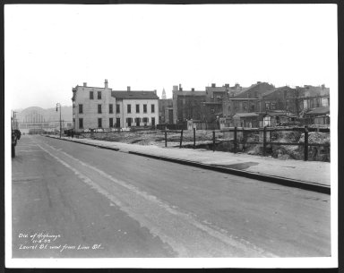 Street Improvement Photographs -- Box 25, Folder 49 (Laurel Street) -- print, 1933-11-08