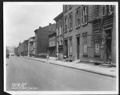 Street Improvement Photographs -- Box 25, Folder 50 (Laurel Street) -- print, 1932-06-23