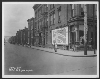 Street Improvement Photographs -- Box 25, Folder 50 (Laurel Street) -- print, 1932-06-30