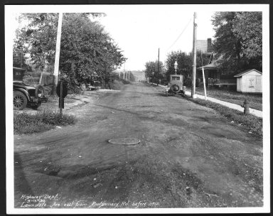 Street Improvement Photographs -- Box 25, Folder 52 (Lawndale Avenue) -- print, 1930-09-13