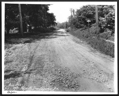 Street Improvement Photographs -- Box 25, Folder 54 (Lester Road) -- print, 1928-08-10