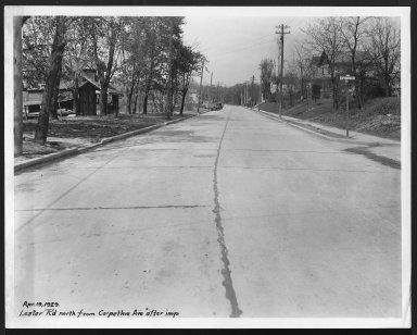Street Improvement Photographs -- Box 25, Folder 54 (Lester Road) -- print, 1929-04-19