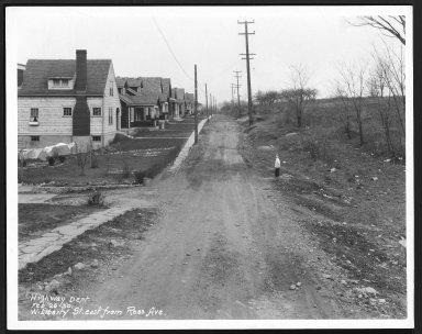 Street Improvement Photographs -- Box 25, Folder 56 (Liberty Street) -- print, 1930-02-26