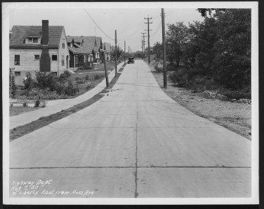 Street Improvement Photographs -- Box 25, Folder 56 (Liberty Street) -- print, 1930-08-07