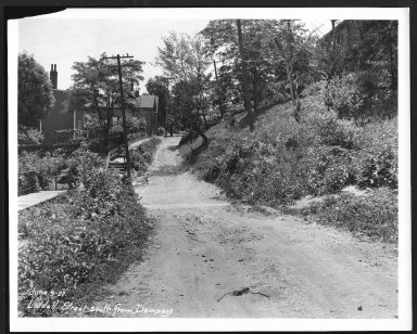 Street Improvement Photographs -- Box 25, Folder 58 (Liddell Street) -- print, 1927-06-09