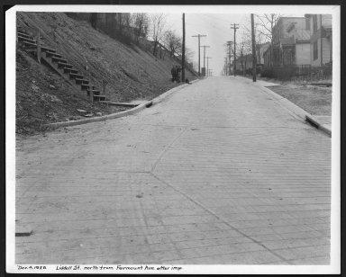 Street Improvement Photographs -- Box 25, Folder 58 (Liddell Street) -- print, 1928-12-04